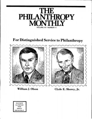 Philanthropy Monthly Cover