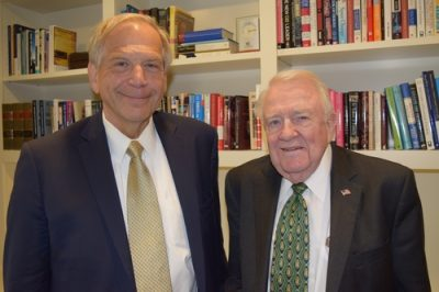 On June 20, 2018, Bill Olson met with former U.S. Attorney General Ed Meese at his office at the Heritage Foundation. Bill began working with General Meese in 1978 on victims rights issues, which led to the founding of of Victim's Assistance Legal Organization (V.A.L.O.R.) with victim's rights attorney Frank Carrington.
